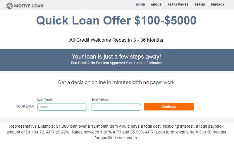 motive loan