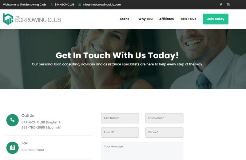 The Borrowing Club site
